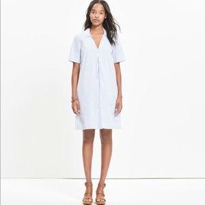NWT Madewell Striped Swingout Shirtdress